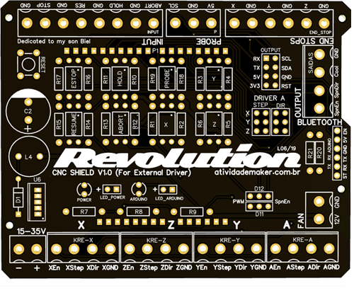 CNC Shield Revolution V1 0 - ATIVIDADE MAKER